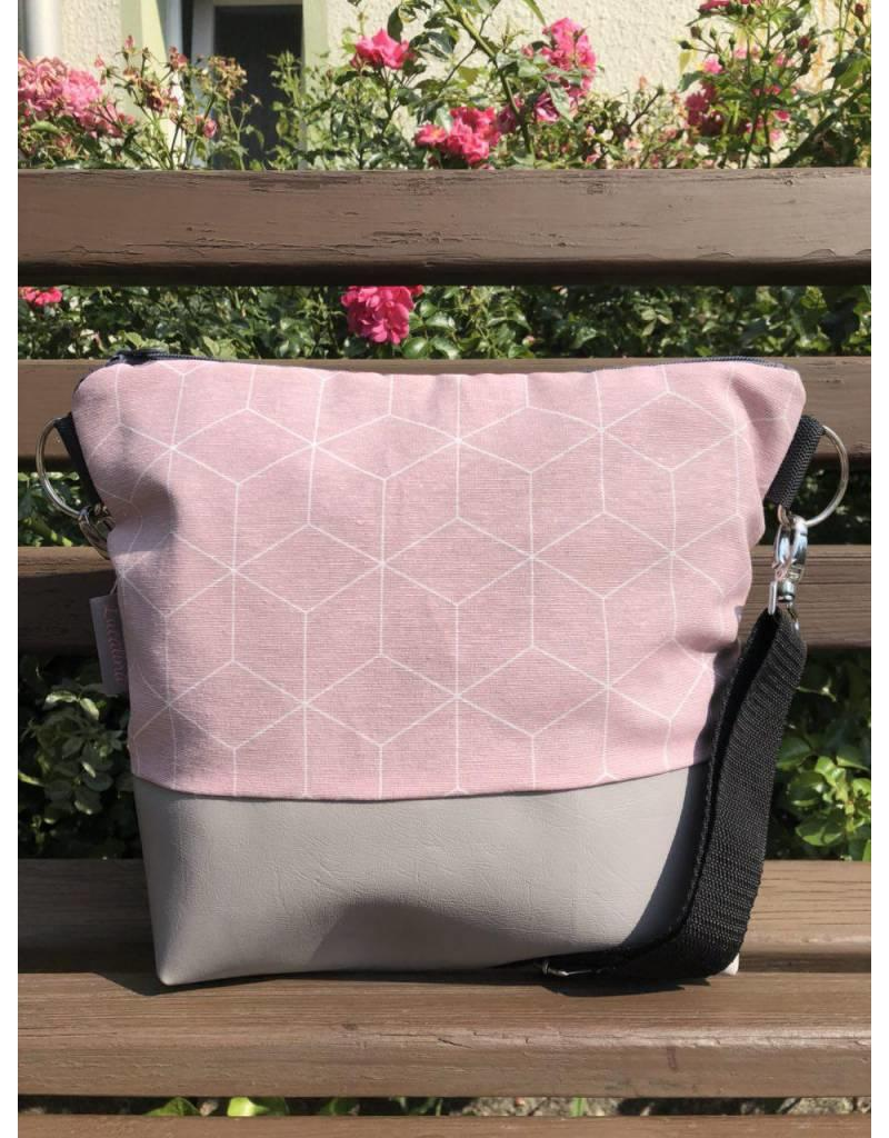 Canvas Big Canvas - Tasche Geo rosa