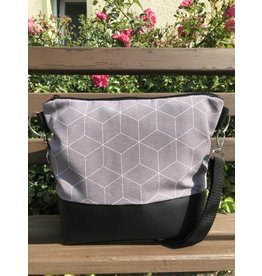 Canvas Big Canvas - Tasche Geo grau