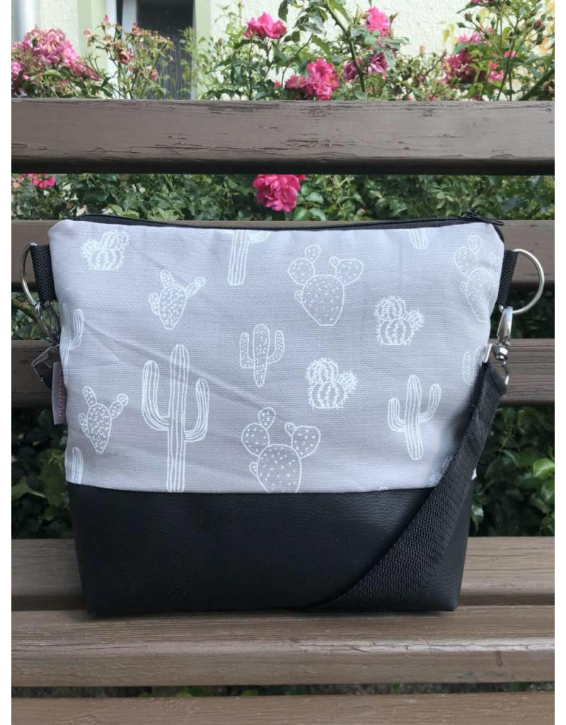 Canvas Big Canvas - Tasche Kaktus grau