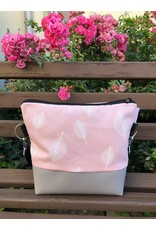 Canvas Big Canvas - Tasche Blätter rosa