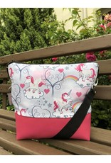 Canvas Big Canvas - Tasche Einhorn pink