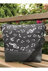 Canvas Big Canvas - Tasche Noten schwarz
