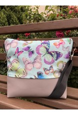 Canvas Big Canvas - Tasche Schmetterling grau
