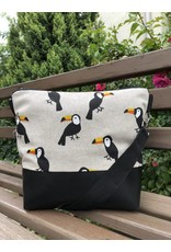 Canvas Big Canvas - Tasche Vogel - schwarz