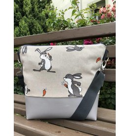 Canvas Big Canvas - Tasche Hase grau