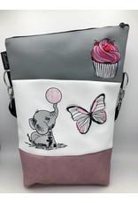 Foldover Elefant mit Cupcake