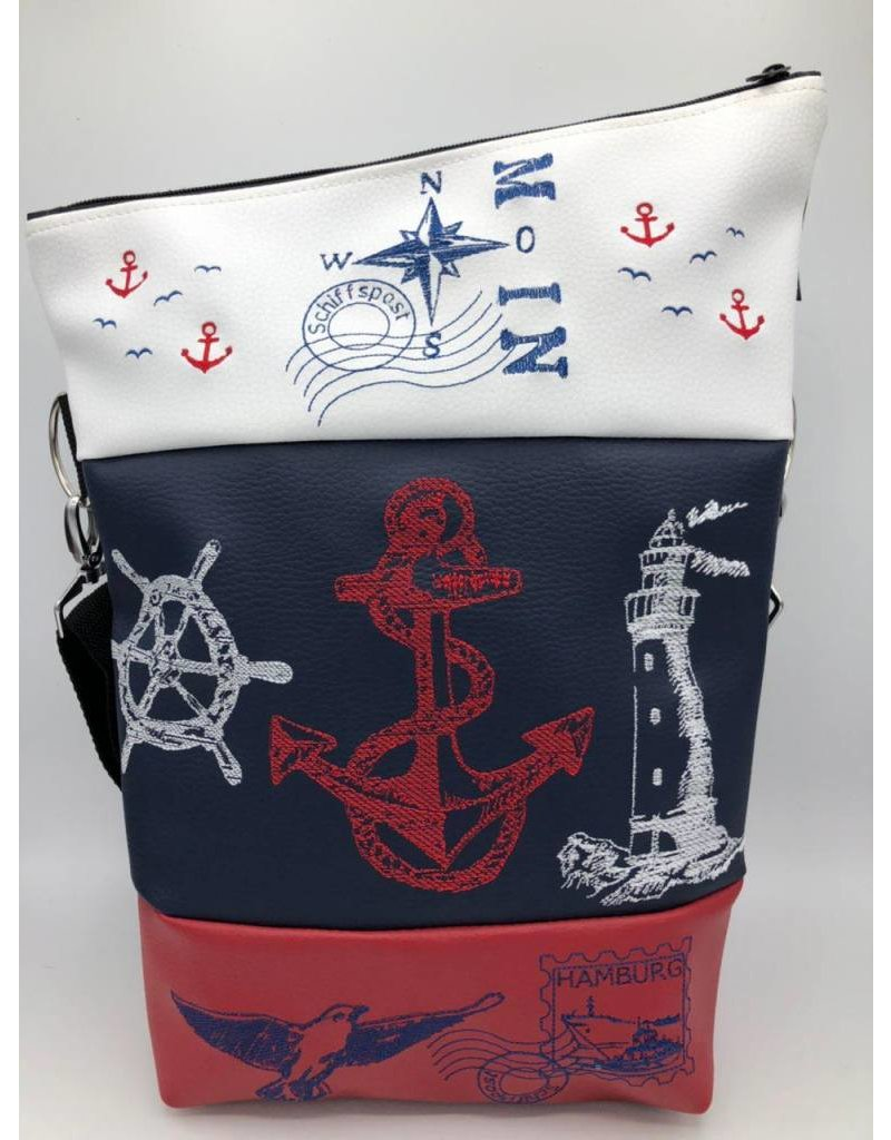 Foldover Maritime anchor, lighthouse, ship wheel