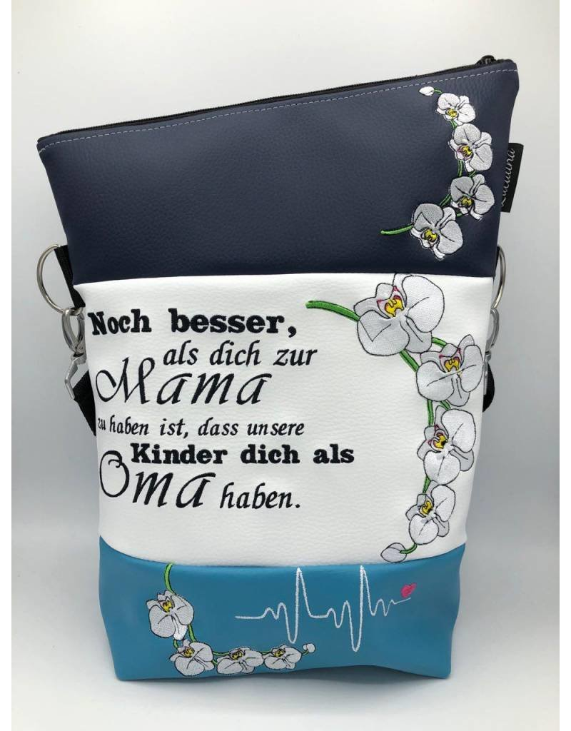 Foldover Orchideen mit Mama - Spruch
