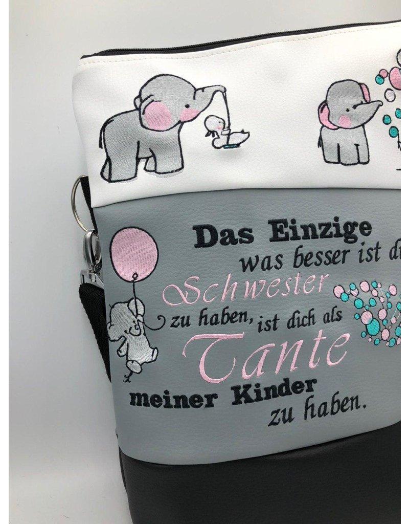Foldover Schwesterliebe mit Elefanten