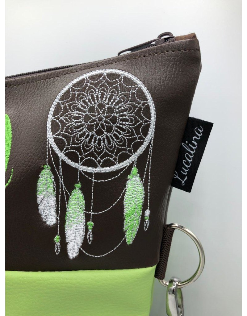 Foldover Orchids with dreamcatcher