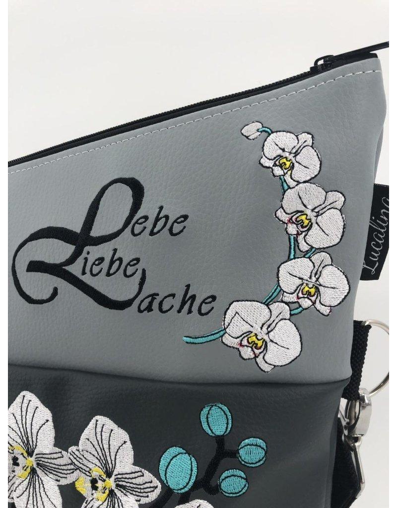 Foldover Orchideen - Lebe, liebe, lache
