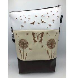 Foldover 2 Pusteblumen mit Schmetterling