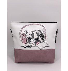 Milow Französische Bulldogge mit Kopfhörern