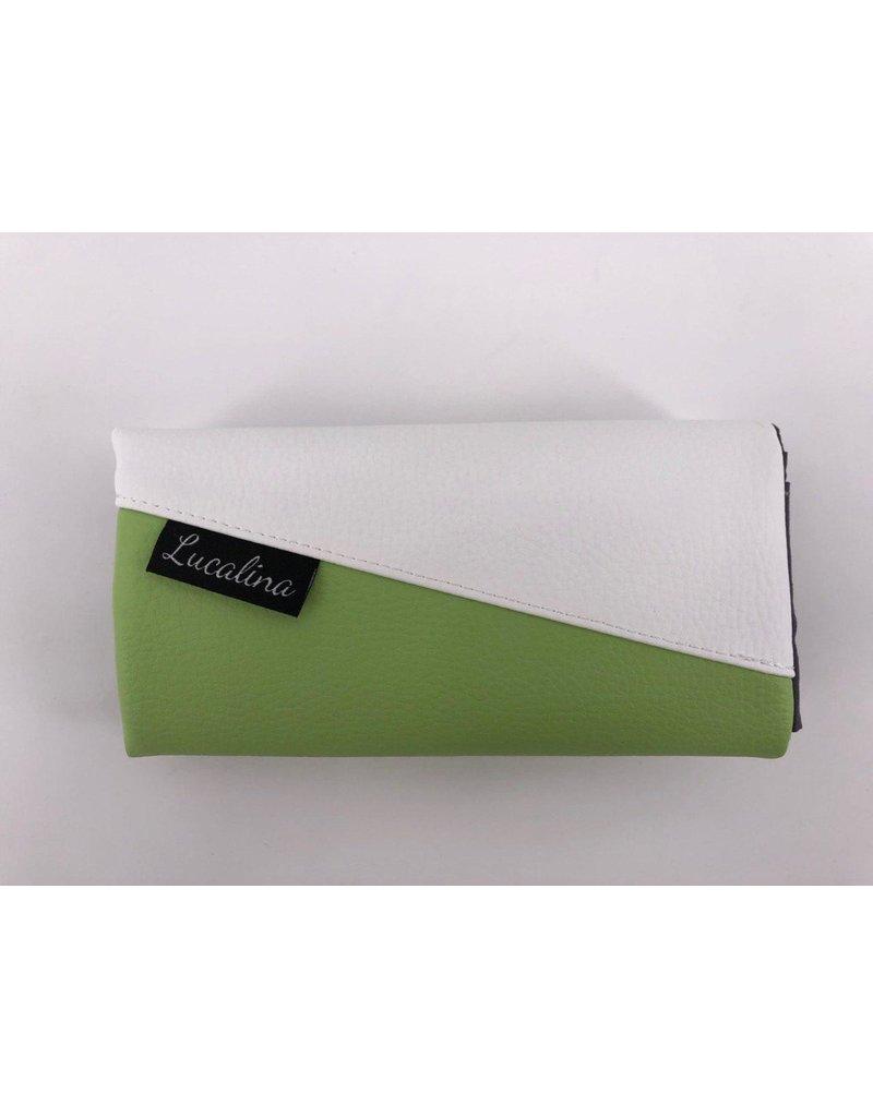 Foldover Set - Lebe liebe lache (lemongreen) inklusive Geldbörse