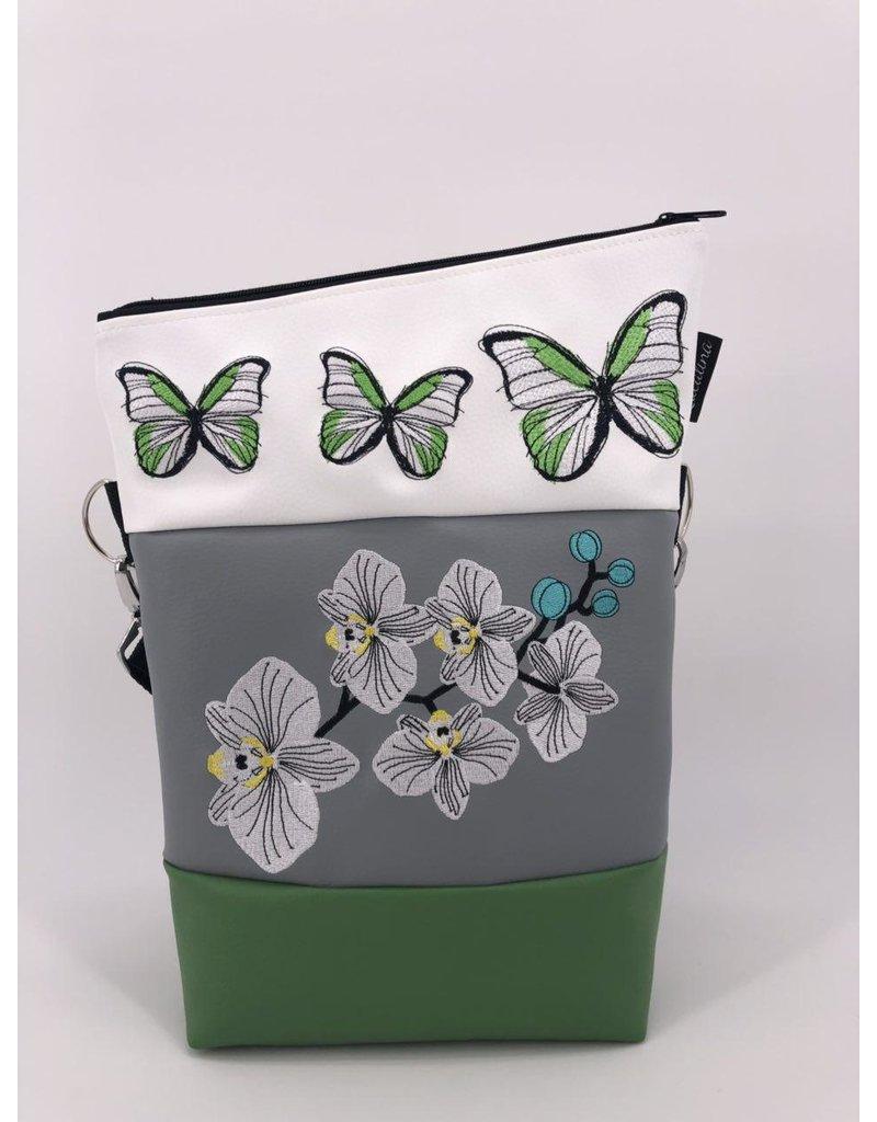 Foldover Orchideen mit Schmetterlingen