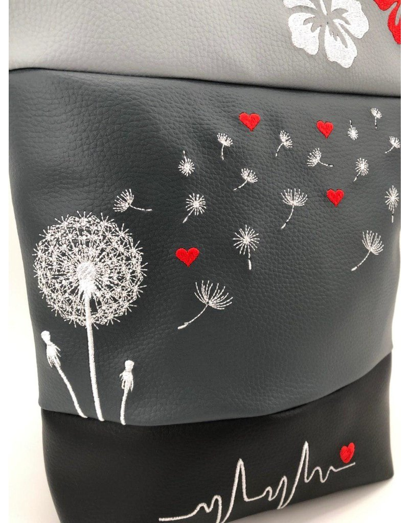 Foldover Set - Pusteblume mit Herzen & Hibiskus inkl. Geldbörse