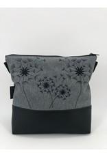 Milow 4 Pusteblumen - schwarze Stickerei
