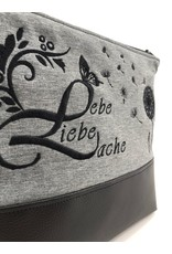 Milow Lebe, liebe, lache - schwarze Stickerei