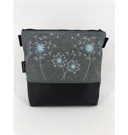 Milow Angebot - Softshell 4 Pusteblumen - weiße Stickerei mit babyblauem Akzent
