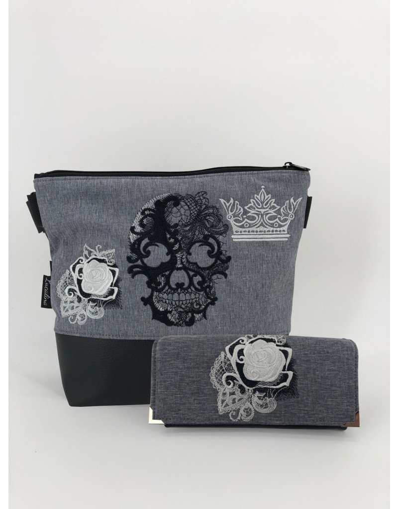 Milow Set - Milow Totenkopf mit Rose inkl. Geldbörse