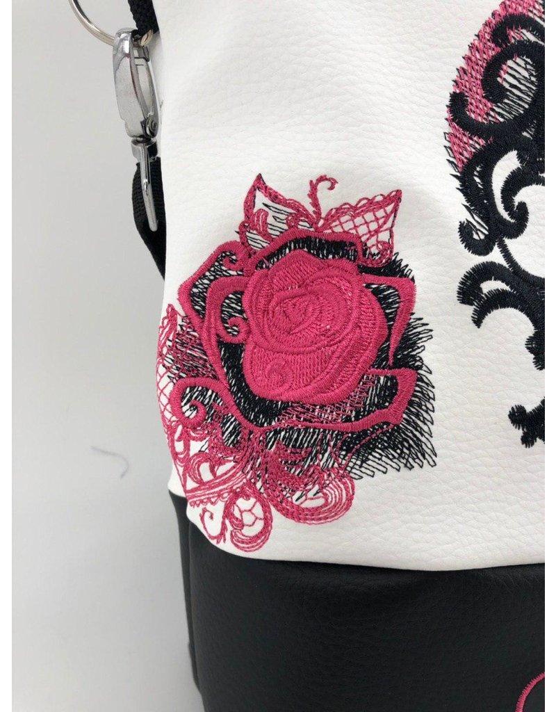 Foldover Totenkopf mit Rose