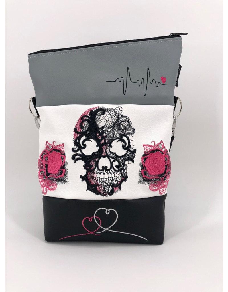 Foldover Skull with rose