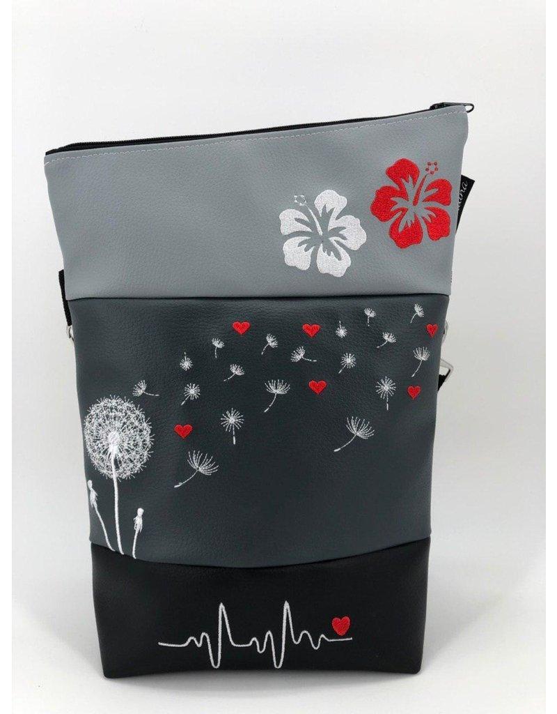 Foldover Dandelion with Heart & Hibiscus