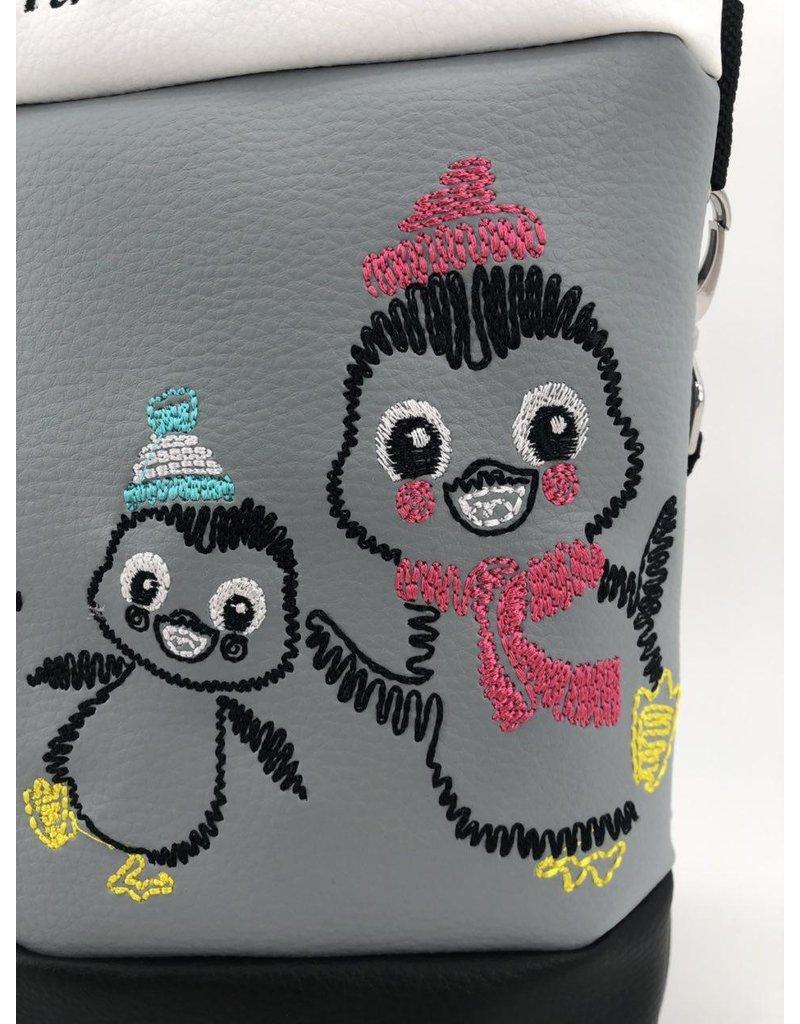Foldover Pinguinfamilie