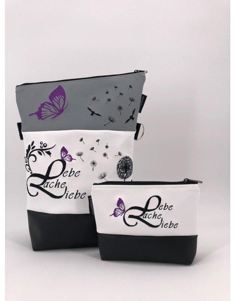 Foldover Set - Lebe liebe lache - lila Akzent