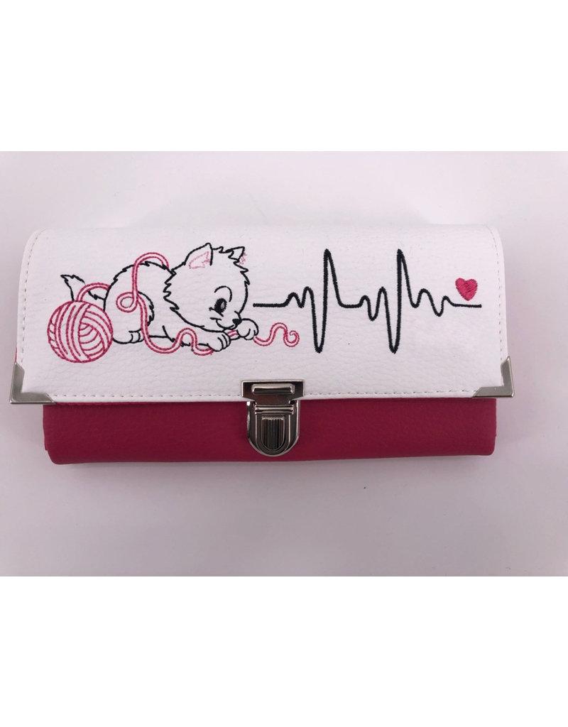 Milow Geldbörse Katze mit EKG