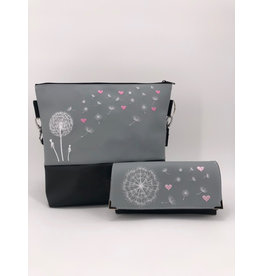 Milow Set - Pusteblume mit rosa Herzen inklusive Geldbörse