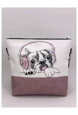 Milow Set - Französische Bulldogge mit Kopfhörern inklusive Geldbörse