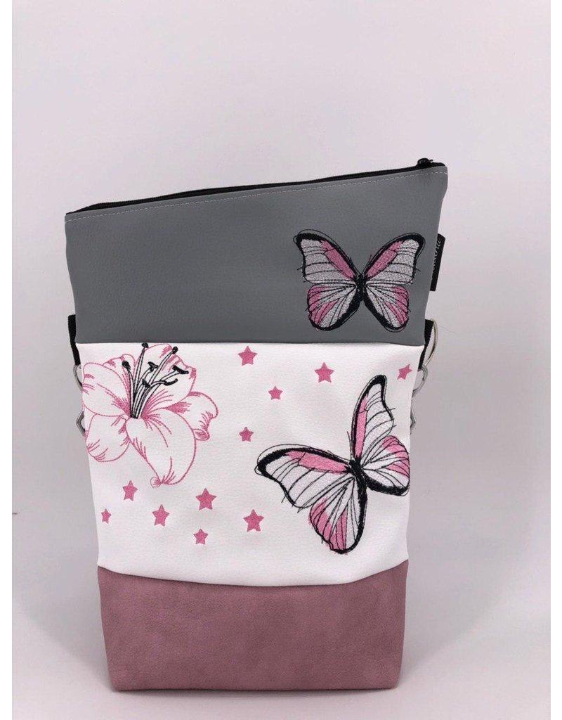 Foldover Set - Lilie mit Schmetterling und Sternen inklusive Geldbörse
