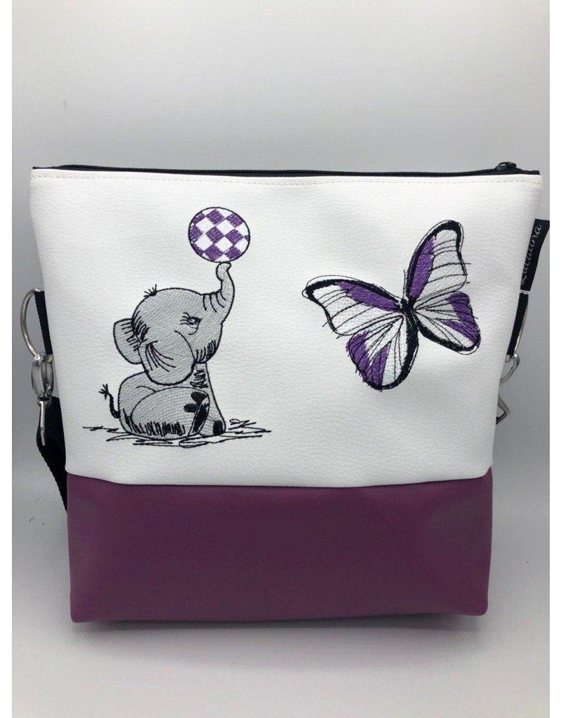 Milow Set - Elefant mit Schmetterling lila