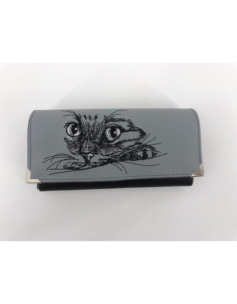 Foldover Set - Katze mit EKG inklusive Geldbörse