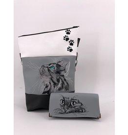 Foldover Set - Katze mit Pfoten inklusive Geldbörse