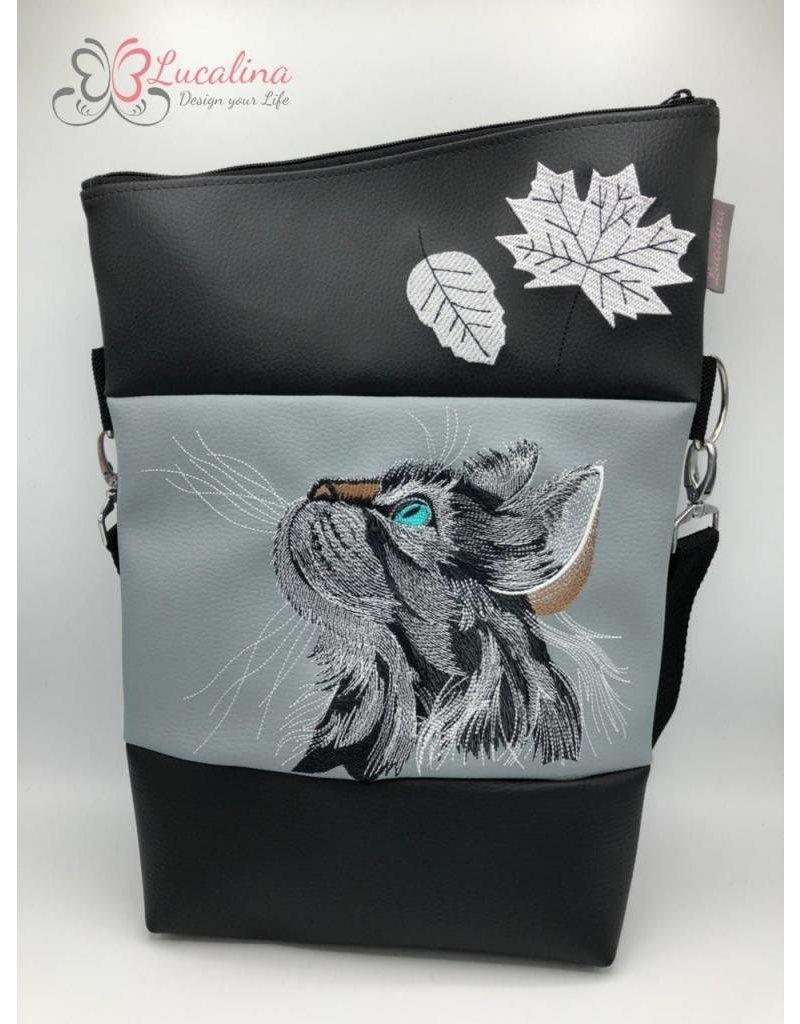 Foldover Set - Katze mit Blättern