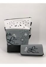 Foldover Set - Lebe, Liebe, Lache mit zwei Pusteblumen inklusive Geldbörse