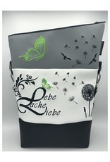 Foldover Set - Lebe Liebe Lache grüner Akzent
