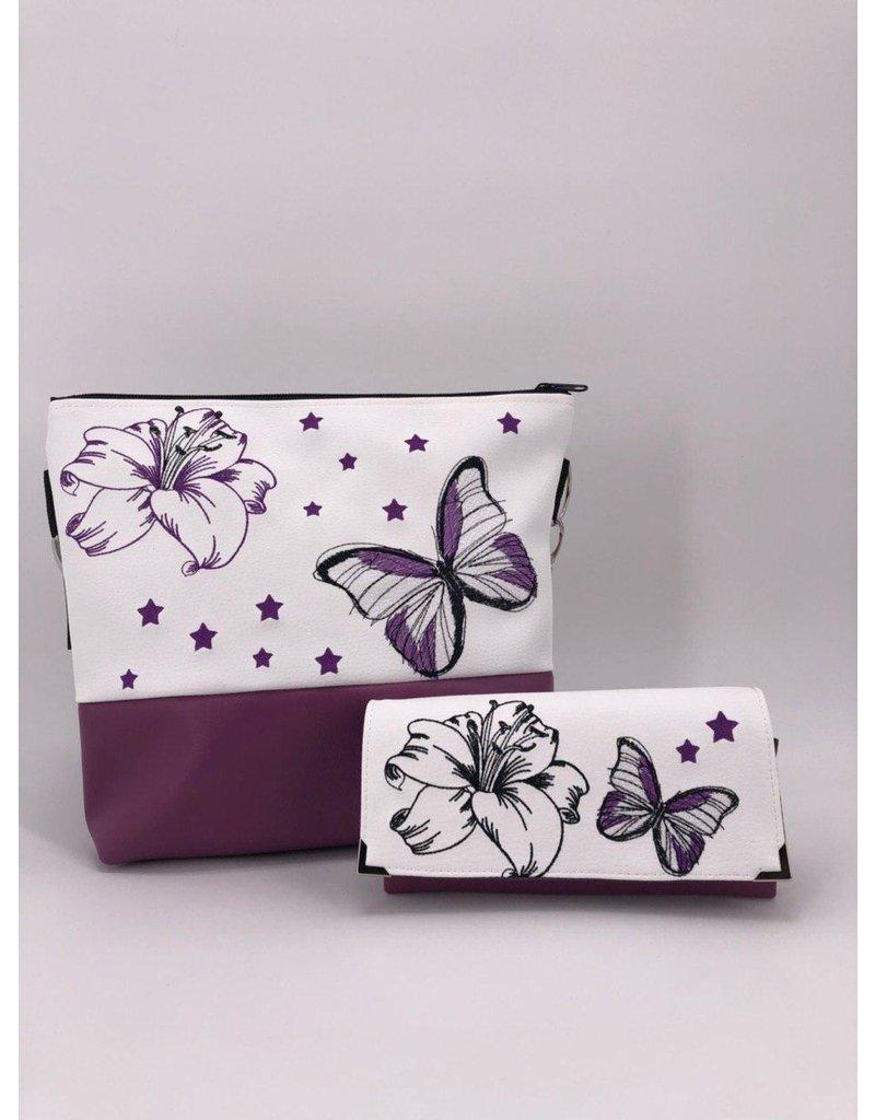 Milow Set - Lilie mit Schmetterling und zwei Sternen inkl. Geldbörse