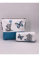 Milow Set - Elefant mit Schmetterling inkl. Geldbörse