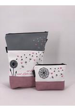Foldover Set - Pusteblume mit rosa Herzen & Spruch
