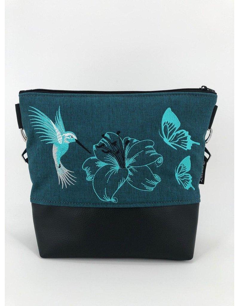 Milow Kolibri mit Lilie und Schmetterlingen