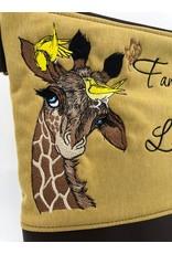 Milow Giraffe mit Spruch