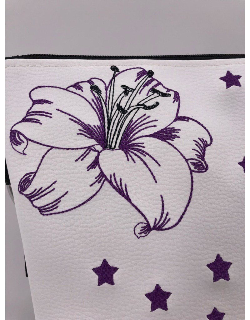 Milow Lilie mit Schmetterling und Sternen