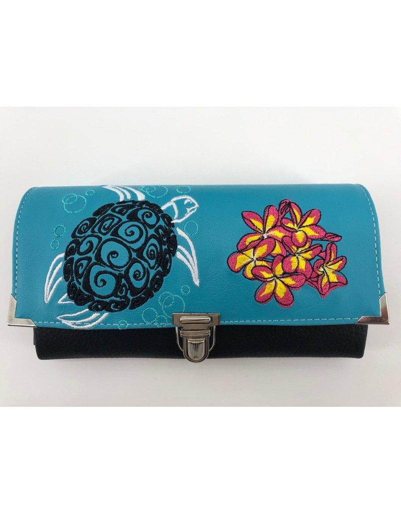 Milow Geldbörse Schildkröte mit Blumen