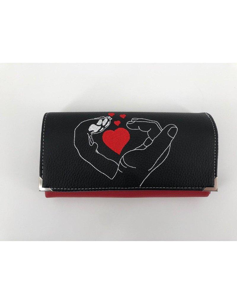 Milow Geldbörse Hand und Pfote mit Herz