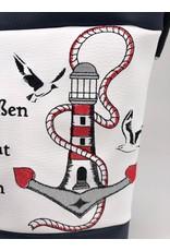 Foldover Leuchtturm mit Spruch und Moinwindrose