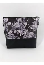 Milow Weiße Blumen auf schwarz
