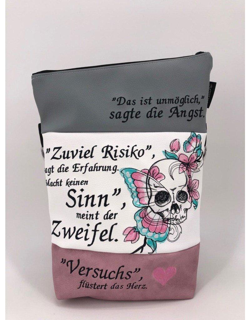 Foldover Totenkopf - Spruch